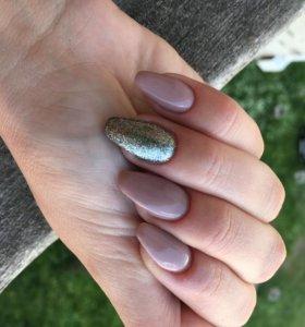 Гель лак наращивание ногтей