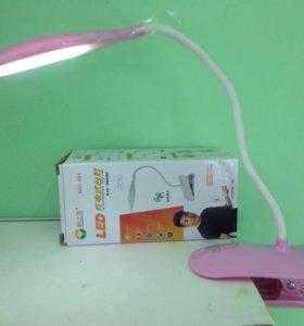 Лампа аккумуляторная на прищепке, новая