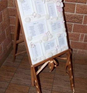План рассадки гостей и номерки на стол
