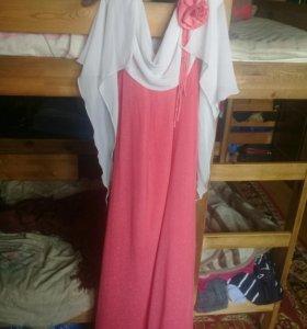 Вечерние платье в пол размер 54-56