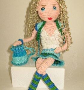 Кукла авторская вязаная, интерьерная