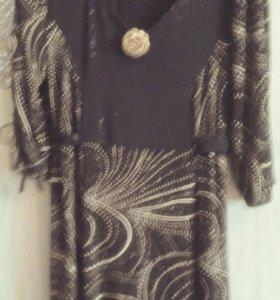Платье вечернее новое,с люрексом.