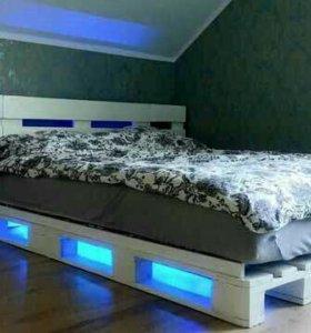 Все виды кроватей из паллет