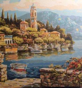 Картина акриловыми красками ручной работы
