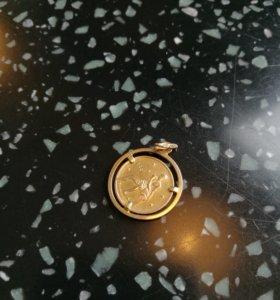 Золото кулон водолей