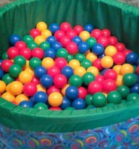Бассейн детский сухой + 200 шариков