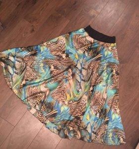 Новая юбка атласная