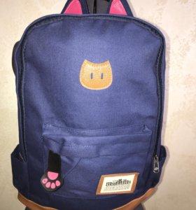 Рюкзак с ушками синий