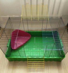 Клетка, лоток, кормушка, полка для кроликов
