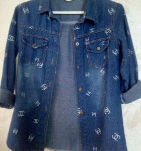 Женская рубашка-джинсовка