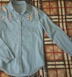 Рубашка джинсовая XS и М