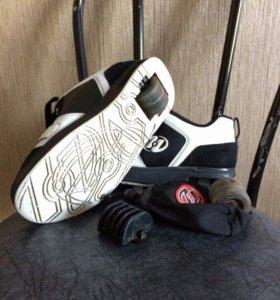 Роликовые кроссовки, размер 37