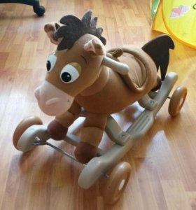 Лошадка-каталка-качалка