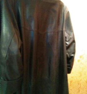 Женское пальто, кожаный плащ.