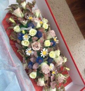 Цветы из фоамирана, свадебные аксессуары