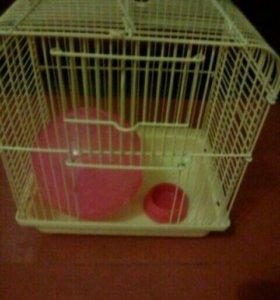Клетка,шар,миска для хомячка