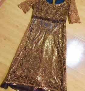 женское платье (золотое)