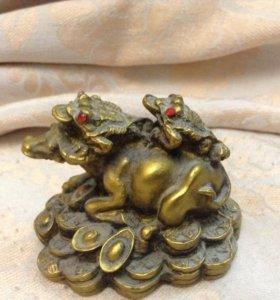 фэн шуй бык с жабами