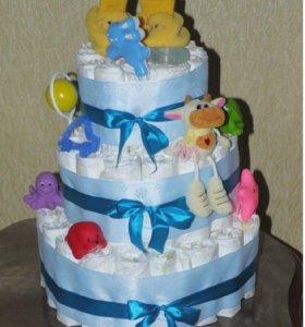 Тортик из памперсов!💞