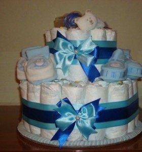 Тортик из памперсов!💞💞💞