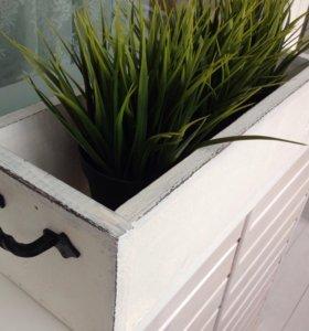 Ящик, подставка под цветы. Дерево