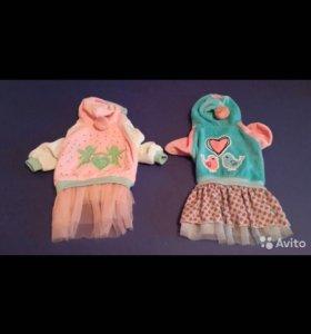 Новые велюровые платья