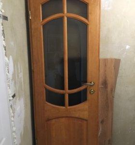 Межкомнатные двери из массива ольхи, новые.