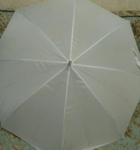 Белый зонт трость
