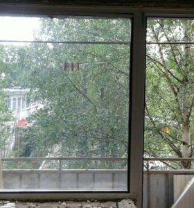 Пластиковые Балконная дверь и окно.