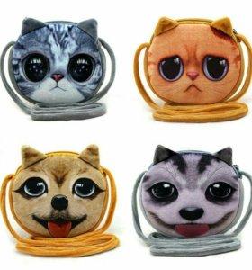 3D сумочка милый котик