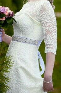 Свадебное платье (  44-46), фата в подарок!!