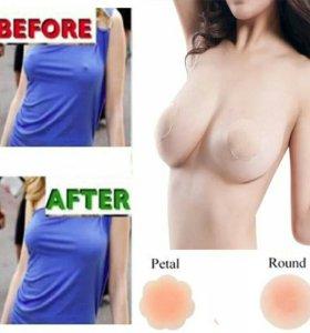 Самоклеющиеся силиконовые груди