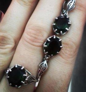 Серьги и кольцо