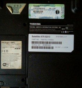 Ноутбук Toshiba A75 на запчасти
