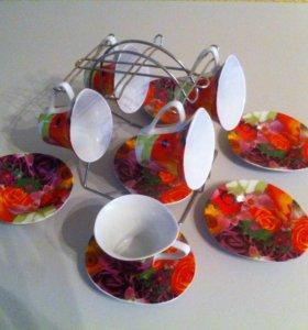 Набор посуды на подставке