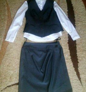 Школьная форма ( юбка+ жилет)