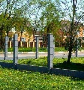 Забор. Оригинальные столбы для забора из бетона