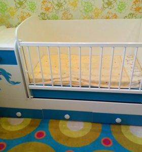 Детская кроватка (маятник) трансформер 3 в 1