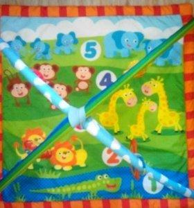 Развивающий коврик с игрушками и подушкой