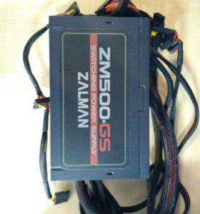 Блок питания для ПК Zalman ZM500-GS на 500 Вт.