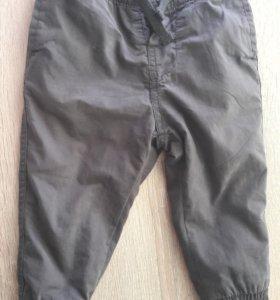 Теплые брюки zara на мальчика 12-18 мес