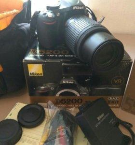 Nikon D5200 + AF-S DX VR Zoom-Nikkor 55-200mm