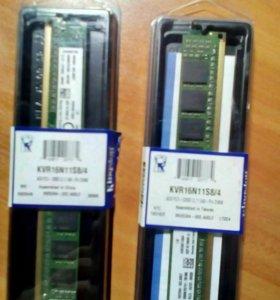 2 планки по 4 гига DDR3 от Kingston