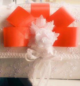 Свадебный сундук + подушечка для колец в подарок