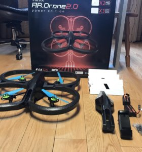 Квадрокоптер, parrot ar drone 2.0 power edition