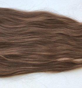 Волосы натуральные на зажимах 60см