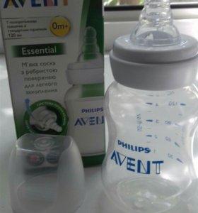 Бутылочка Авент 0 +
