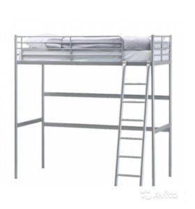 Кровать-чердак Икеа с матрасом