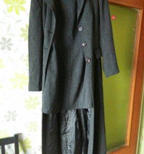 Костюм Длинный пиджак + Платье