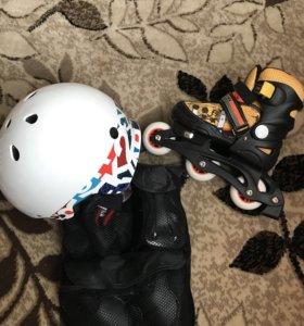 Ролики и защита.шлем